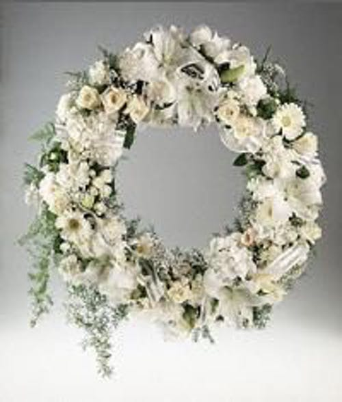 An All White Flower Wreath